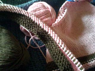 Upstairs knitting